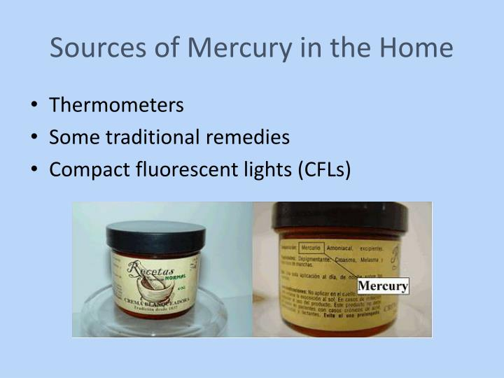 Sources of Mercury in the Home