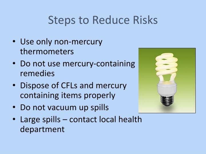 Steps to Reduce Risks