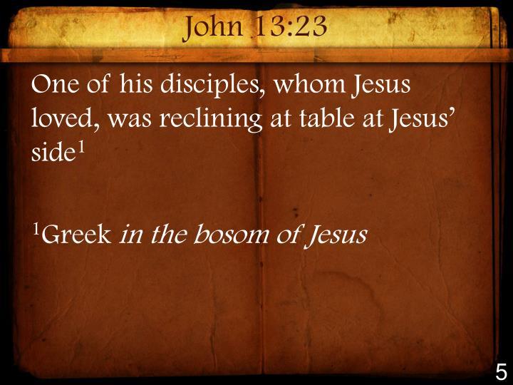 John 13:23