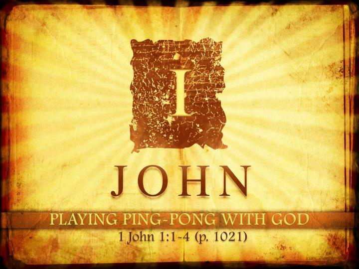 Playing ping pong with god