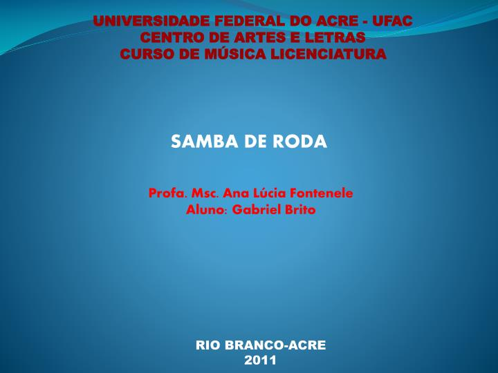 UNIVERSIDADE FEDERAL DO ACRE - UFAC