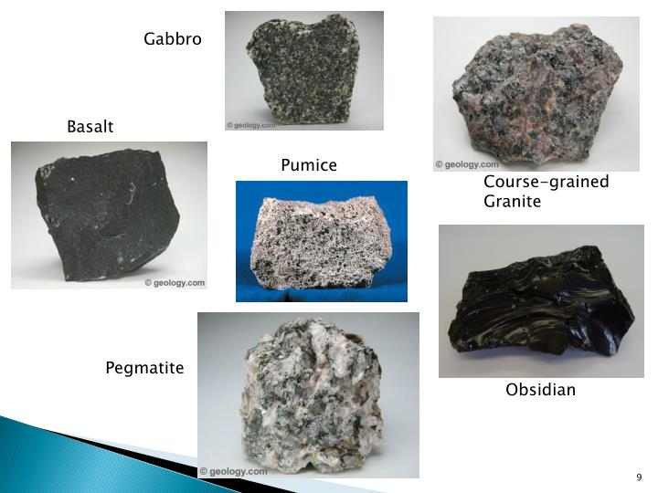 Ppt Sedimentary Igneous And Metamorphic Rocks