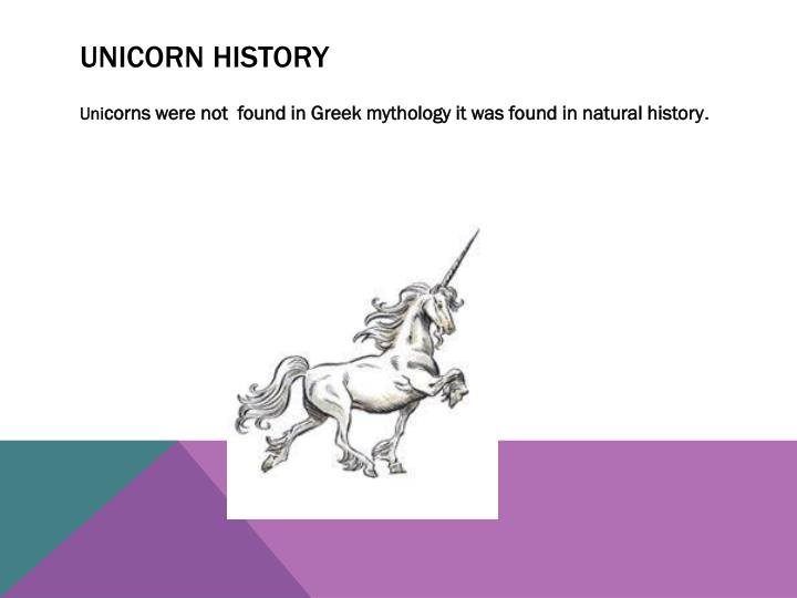 Unicorn history