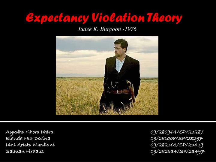 expectancy violation A central feature of nonverbal expectancy violations theory is that unexpected behaviors trigger a cognitive-affective appraisal of such behavior, leading to a valencing of the behavior(s.