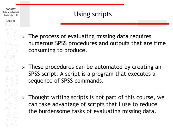 Using scripts
