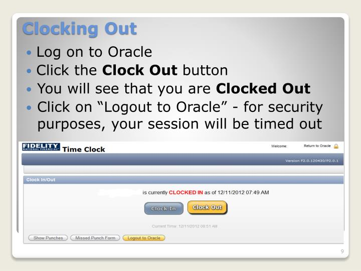 Log on to Oracle