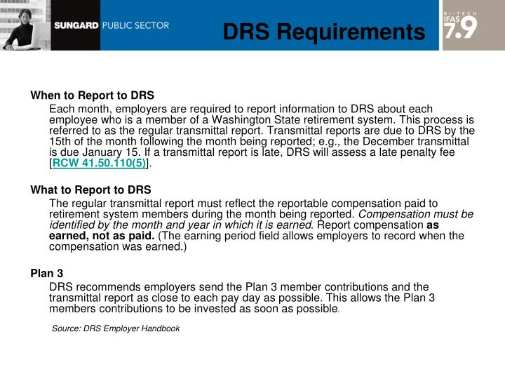 DRS Requirements