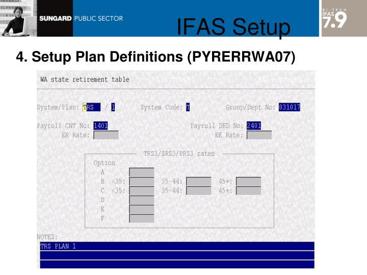 IFAS Setup