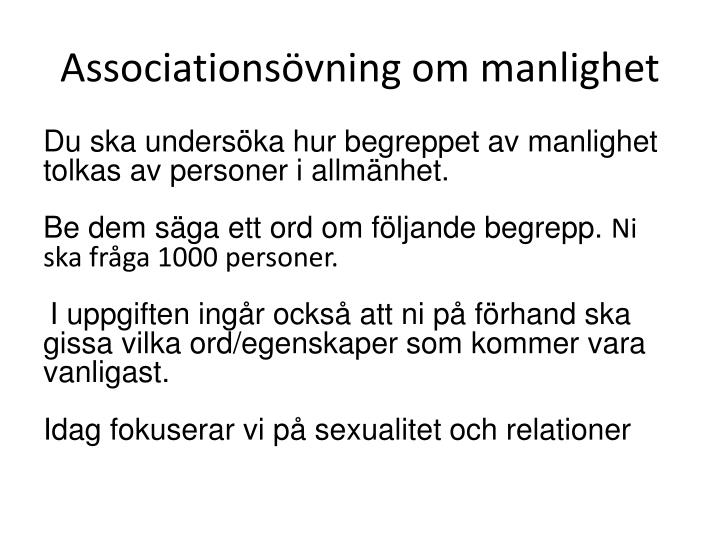 Associationsövning