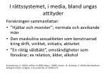 i r ttssystemet i media bland ungas attityder