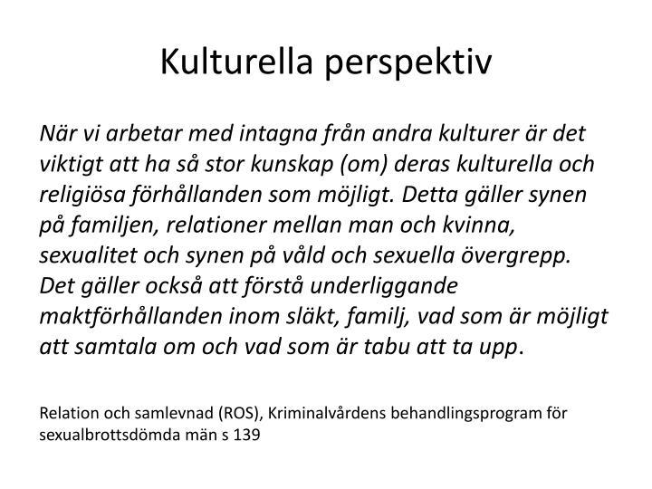 Kulturella perspektiv