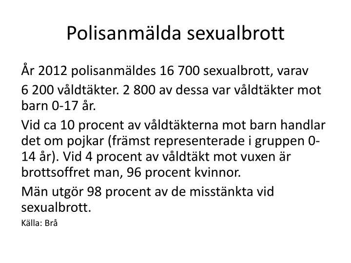 Polisanmälda sexualbrott