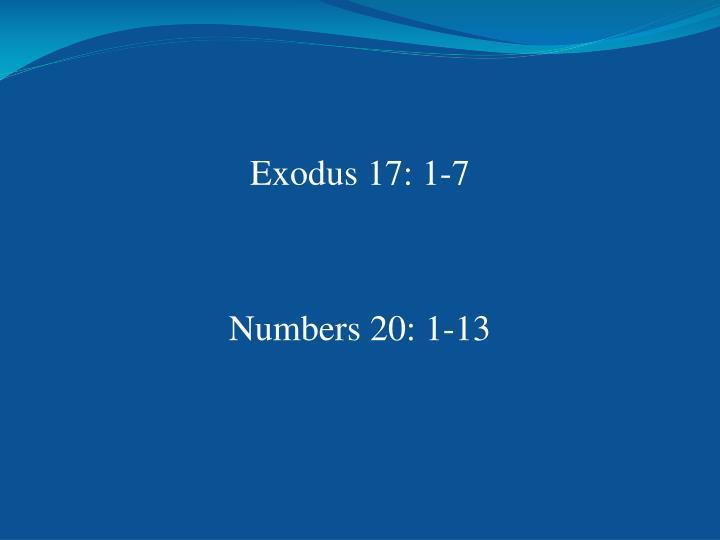 Exodus 17: 1-7