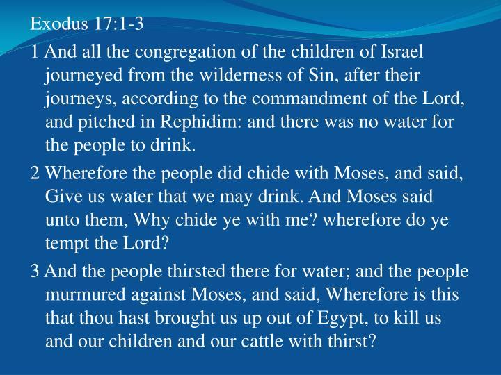 Exodus 17:1-3