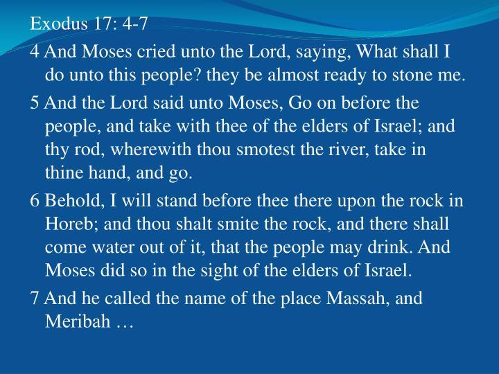 Exodus 17: 4-7