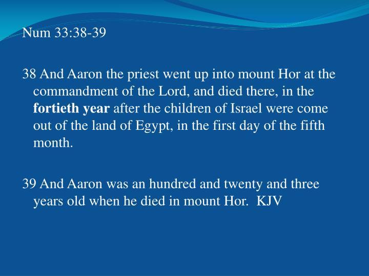 Num 33:38-39