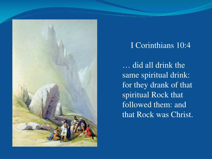 I Corinthians 10:4