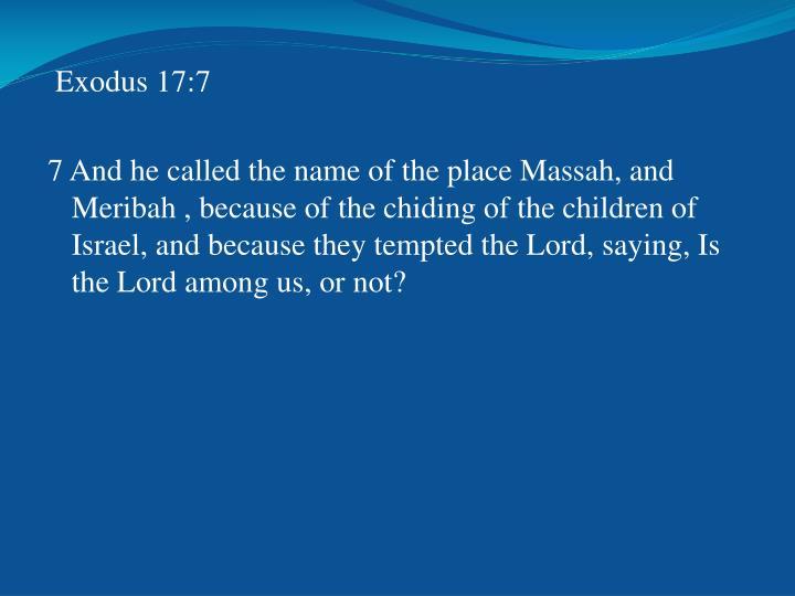 Exodus 17:7