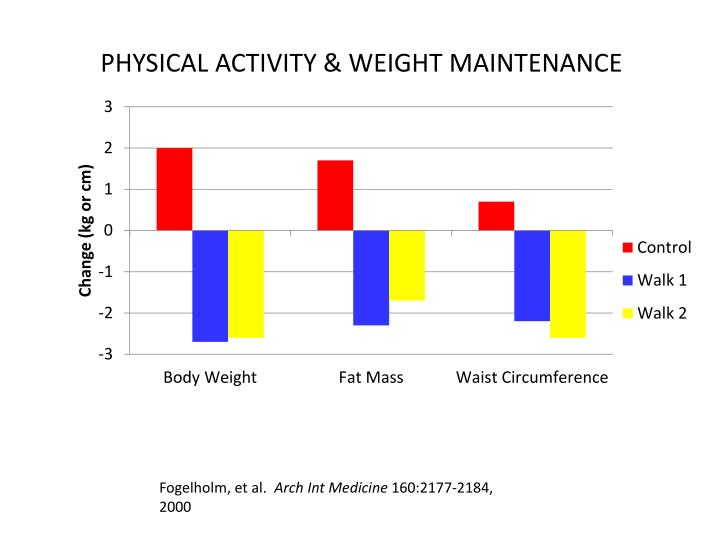 PHYSICAL ACTIVITY & WEIGHT MAINTENANCE