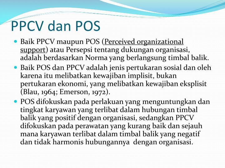 PPCV dan POS
