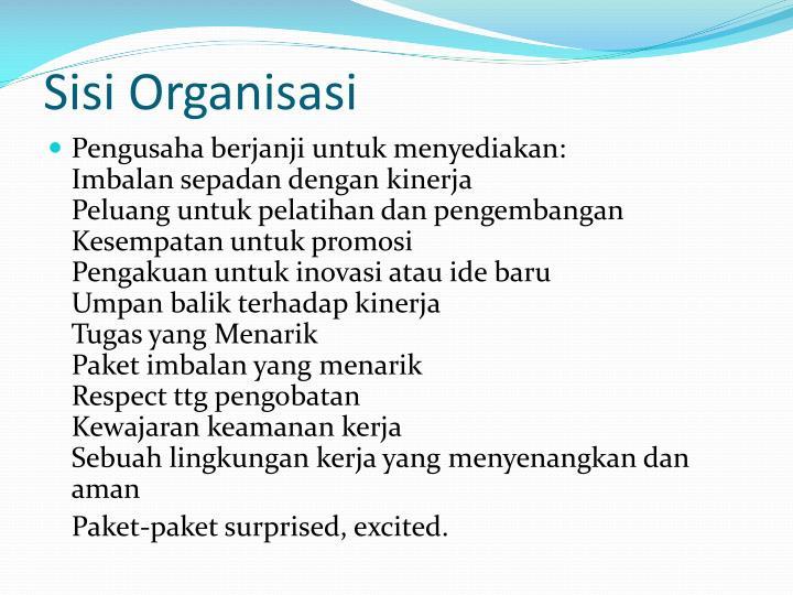 Sisi Organisasi