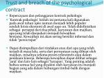 trust and breach of the psychological contract