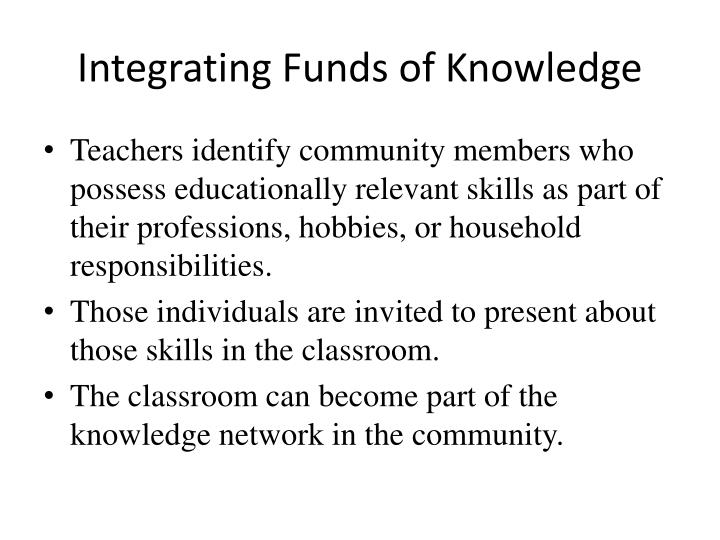 Integrating Funds of Knowledge