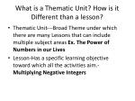 what is a thematic unit how is it different than a lesson