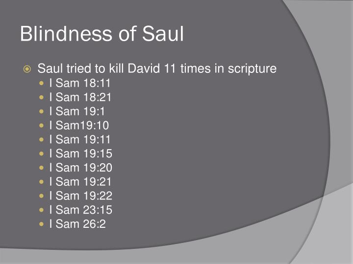 Blindness of Saul