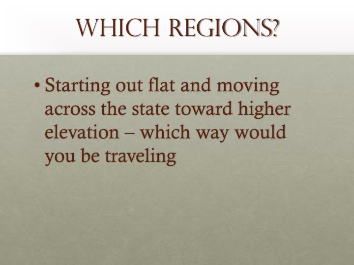 Which regions?