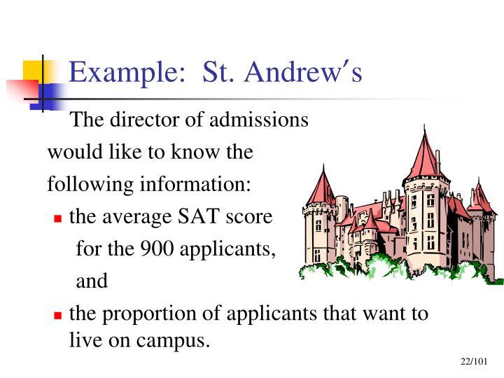 Example:  St. Andrew