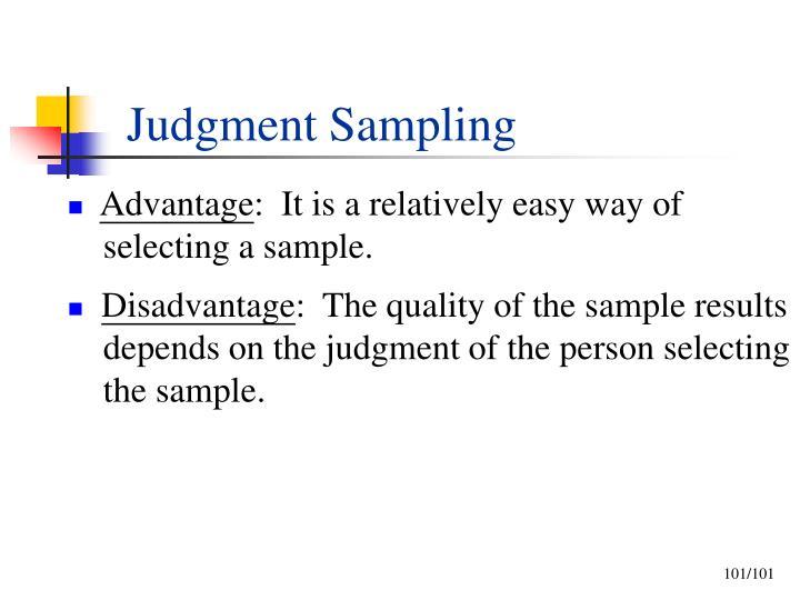 Judgment Sampling