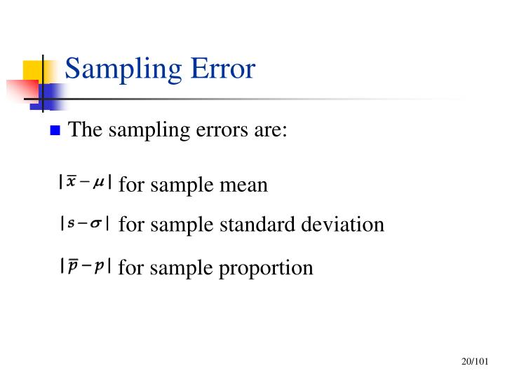 for sample mean