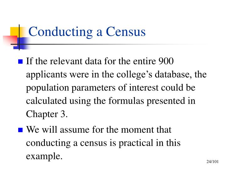 Conducting a Census