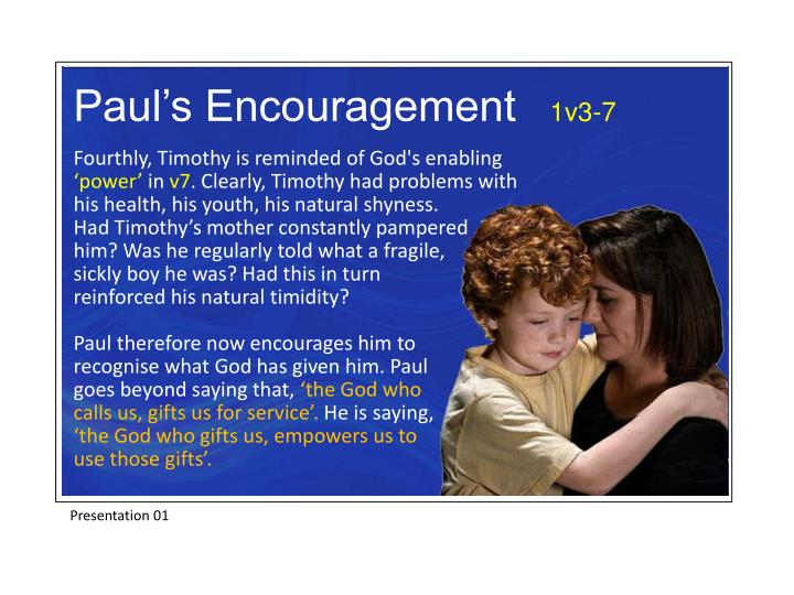 Paul's Encouragement