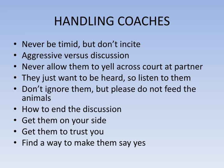 HANDLING COACHES