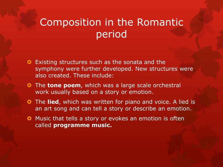 Composition in the Romantic period