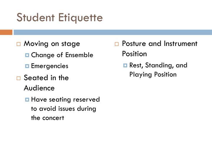 Student Etiquette
