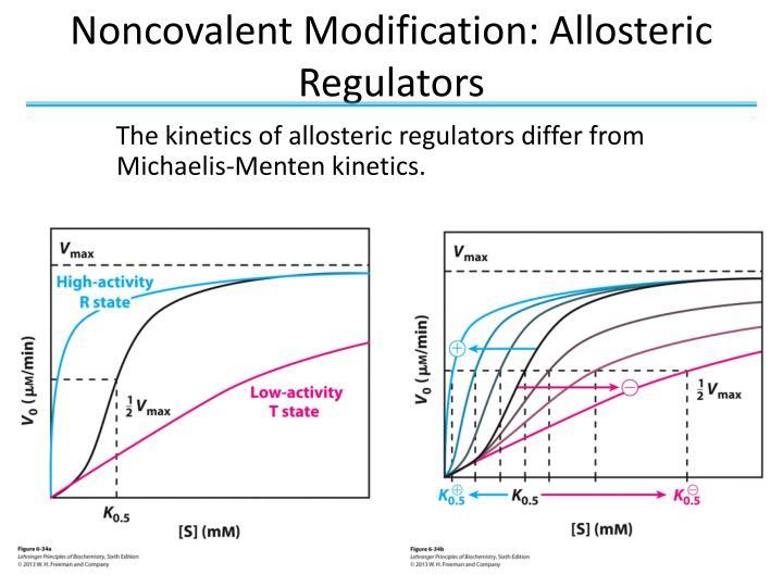 Noncovalent Modification: Allosteric Regulators