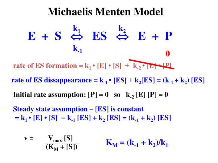 Initial rate assumption: [P] = 0   so   k