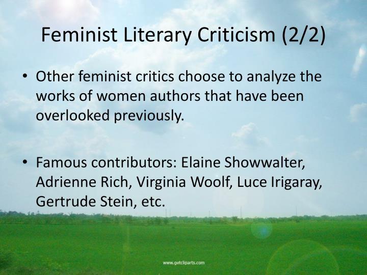 Feminist Literary Criticism (2/2)