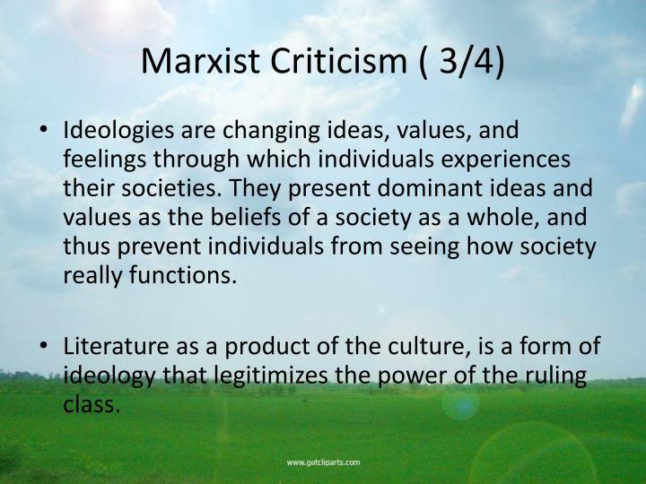 Marxist Criticism ( 3/4)