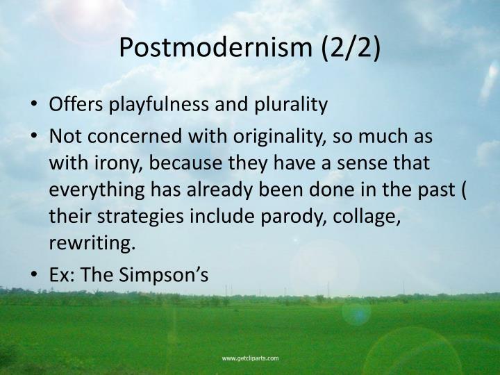 Postmodernism (2/2)
