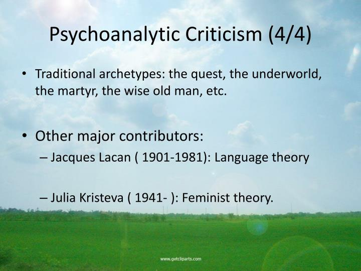 Psychoanalytic Criticism (4/4)