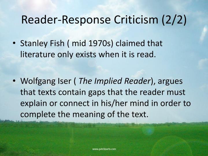 Reader-Response Criticism (2/2)