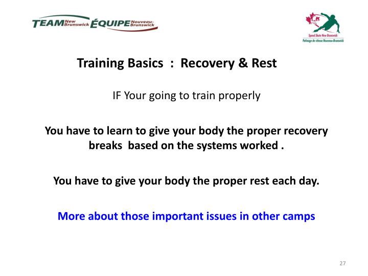 Training Basics  :