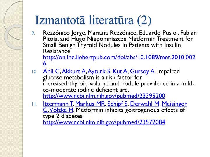 Izmantotā literatūra (2)