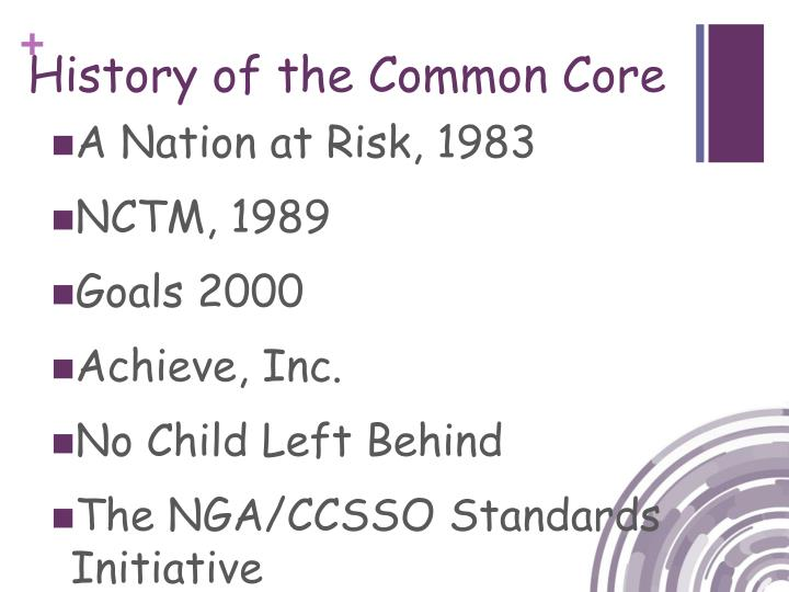 History of the Common Core