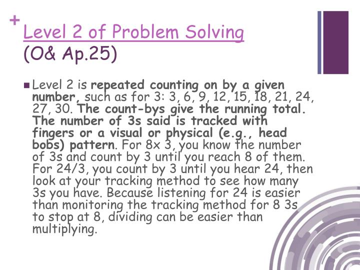 Level 2 of Problem Solving