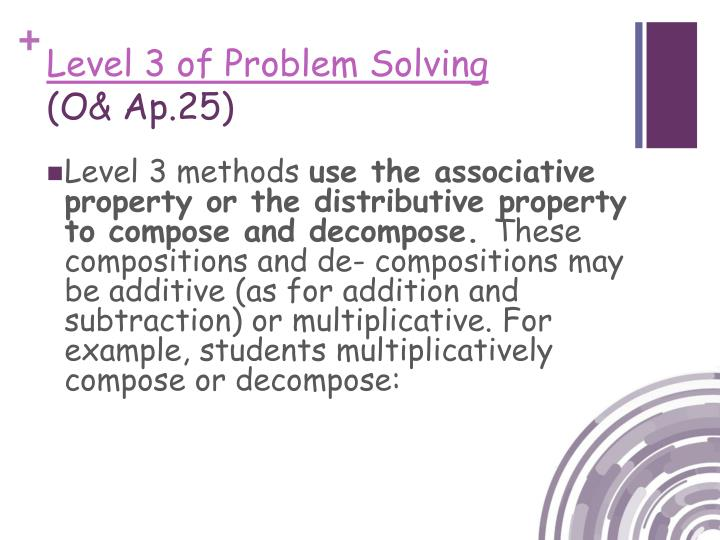 Level 3 of Problem Solving